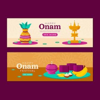 Onam-banners ingesteld