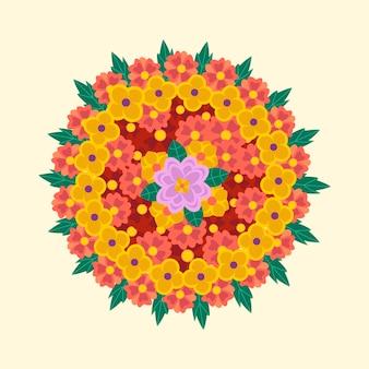 Onam bloeit decoratie