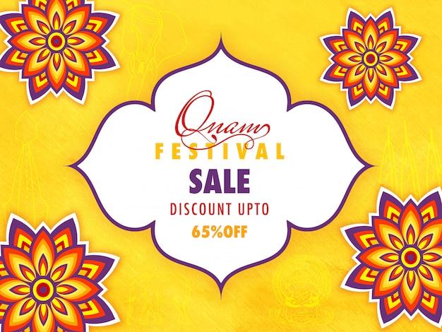 Onam festival verkoop banner of poster.