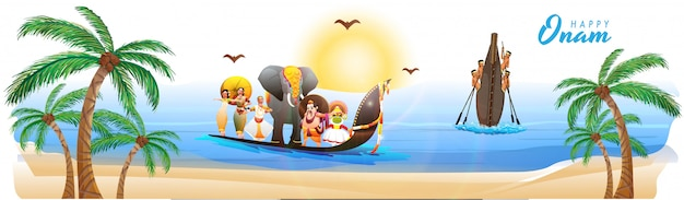 Onam festival viering achtergrond.