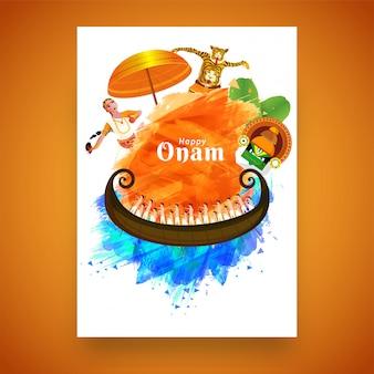 Onam festival viering concept.