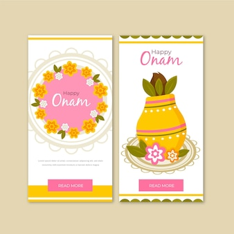 Onam verticale banners collectie