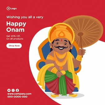 Onam zuid-indiase festivalbannerontwerp