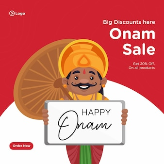 Onam zuid-indiase verkoop festival bannerontwerp