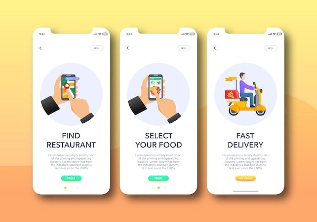 Onboarding-scherm restaurant-app