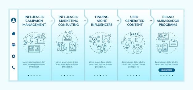 Onboarding-sjabloon voor influencer marketingtechnologieën