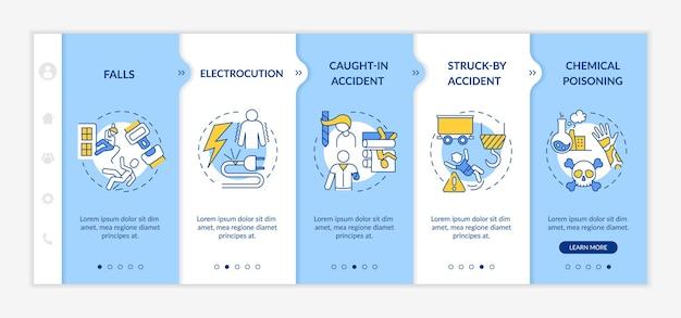 Onboarding-sjabloon voor informatie over werkgerelateerde letsels