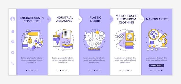 Onboarding-sjabloon voor microplastics-bronnen