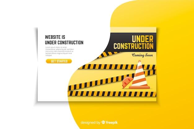 Onder constructie bestemmingspagina
