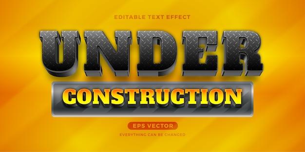 Onder constructie teksteffect