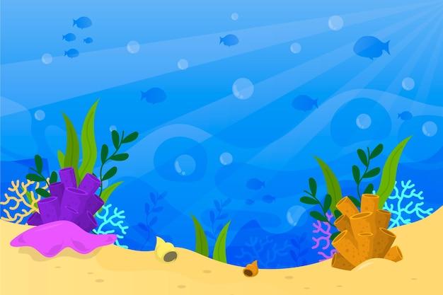Onder de zee achtergrond concept