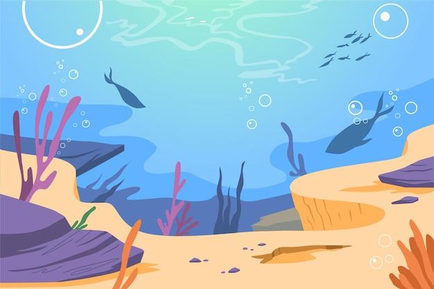 Onder de zee achtergrond voor videoconferenties