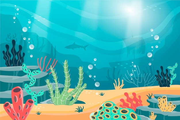 Onder de zee - achtergrond voor videoconferenties