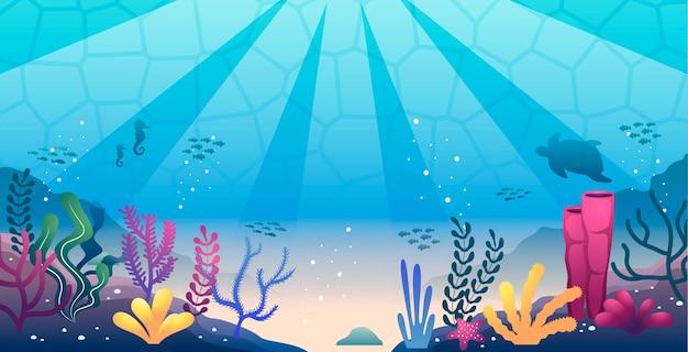 Onder de zeeachtergrond voor conferentie