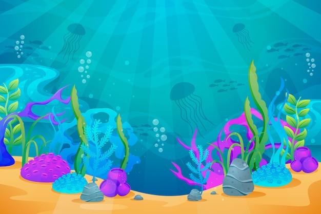 Onder de zeeachtergrond voor conferenties