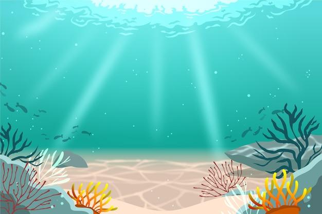 Onder de zeeachtergrond voor videoconferenties