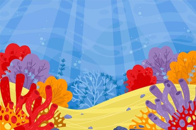 Onder de zeeachtergrond voor videogesprekken