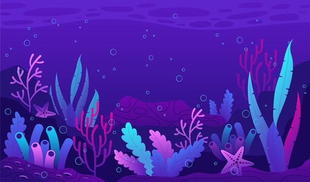Onder de zeeachtergrond