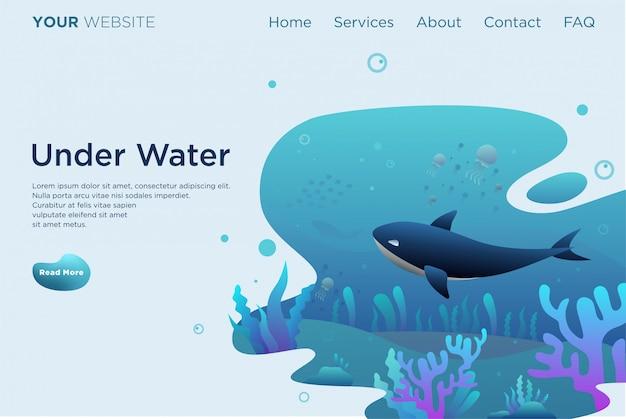 Onder water wereld bestemmingspagina