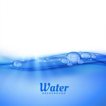 Onder waterachtergrond met bellen