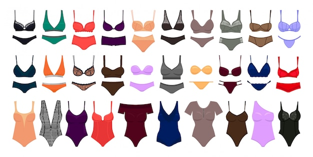 Ondergoed cartoon ingesteld pictogram. illustratie illustratie lingerie op een witte achtergrond .cartoon set icon ondergoed.