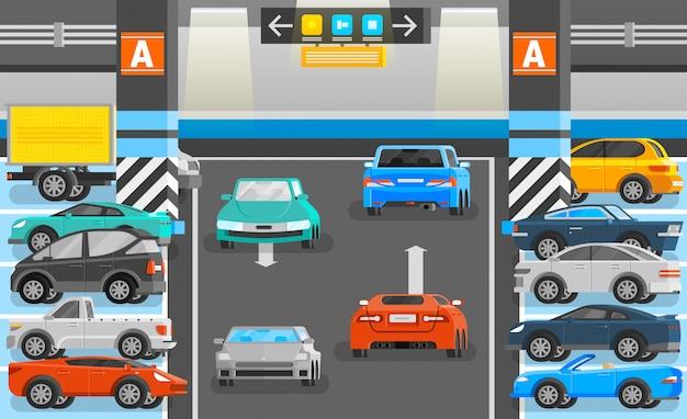 Ondergrondse parkeren illustratie