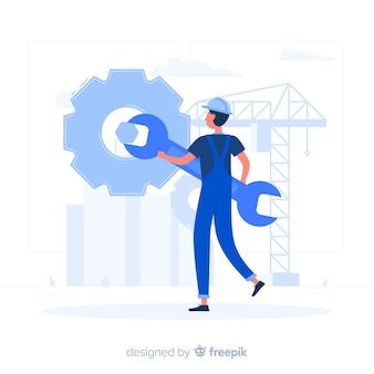 Onderhoud concept illustratie