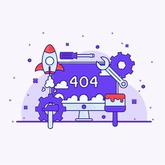 Onderhoud illustratie 404 vector reparatie tool
