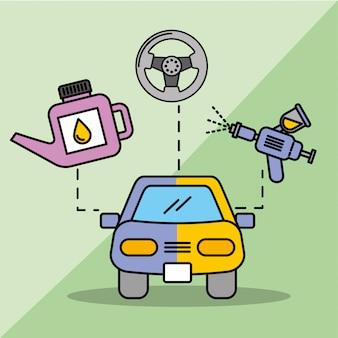 Onderhoud van de auto onderhoud spuitbus oliefles