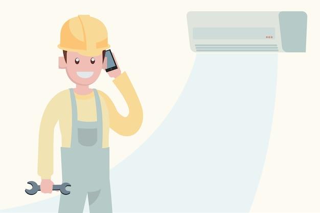 Onderhoudsconcept airconditioner