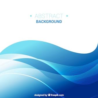 Onderkant met blauwe golvende vormen