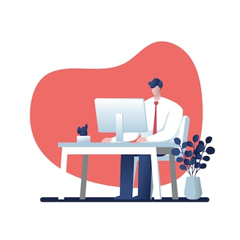 Ondernemers raadpleging. cartoon voor het bedrijfsleven