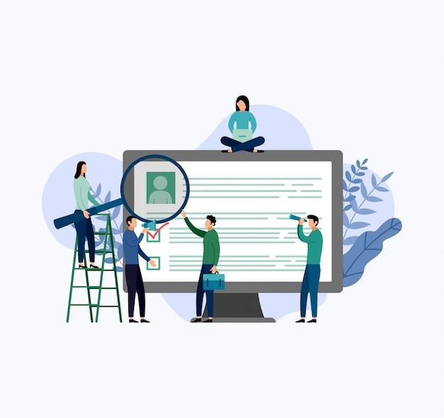 Ondernemers rond cv illustratie