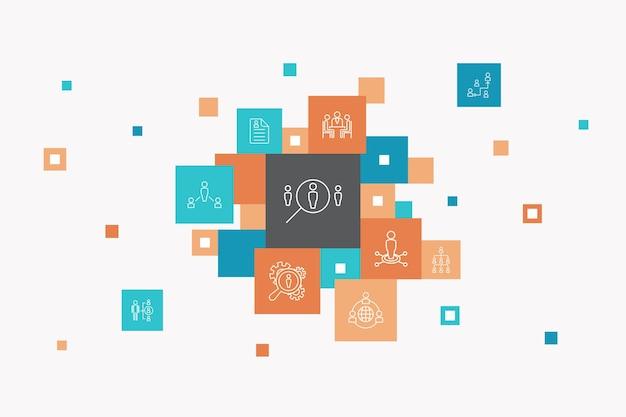Ondernemerschap infographic cirkel concept. slimme ui-elementen investeerder, partnerschap, leiderschap, teambuilding