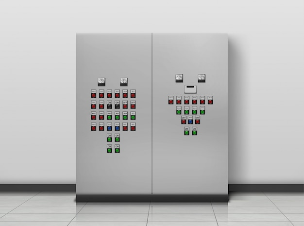 Onderstation kamer. elektricien uitrusting, generator
