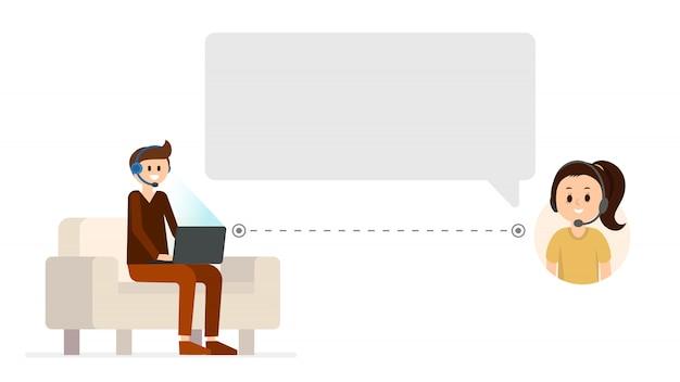 Ondersteunende service online chat