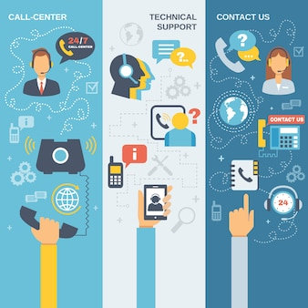 Ondersteuning call center banner