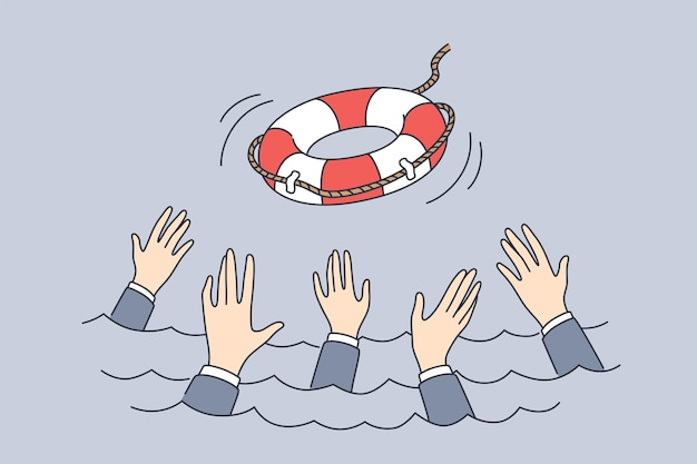 Ondersteuning failliet crisisbeheerconcept crisis