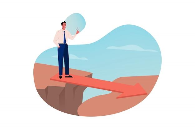 Ondersteuning, probleem, anticrisisstrategie, zoals bedrijfsconcept