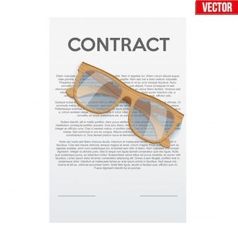 Ondertekening van een wettelijk contract