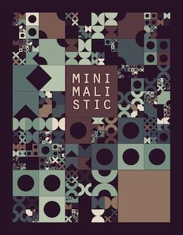 Onderverdeeld rastersysteem met symbolen. willekeurig formaat objecten met vaste ruimte ertussen. futuristische minimalistische lay-out. conceptuele generatieve achtergrond. procedurele afbeeldingen. creatieve codering.