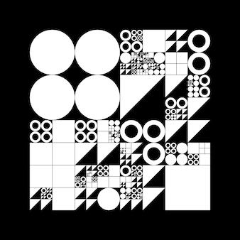 Onderverdeeld rastersysteem met symbolen.