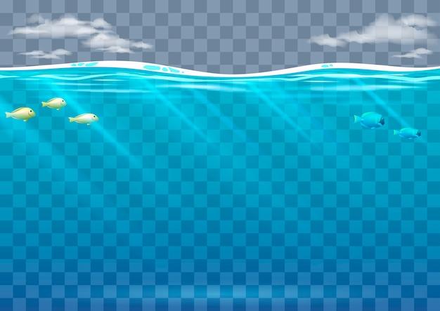 Onderwater achtergrond in vectorafbeeldingen