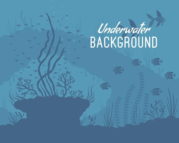 Onderwater achtergrond sjabloon