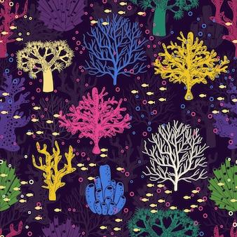 Onderwater naadloos patroon