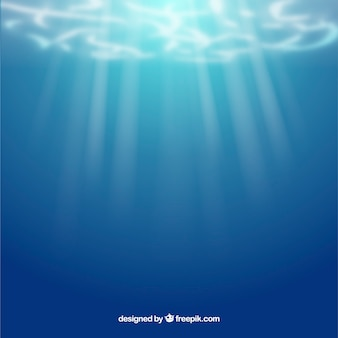 Onderwaterachtergrond in realistische stijl