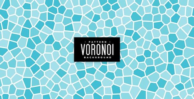 Onderwatertegels of badkamersmuur blauwe voronoi-patroonachtergrond