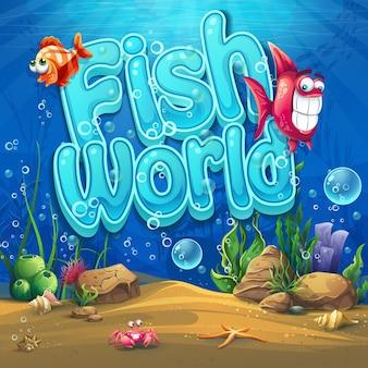 Onderwaterwereld met vissen