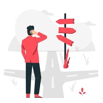 Onderweg concept illustratie