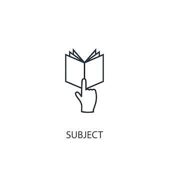 Onderwerp concept lijn icoon. eenvoudige elementenillustratie. onderwerp concept schets symbool ontwerp. kan worden gebruikt voor web- en mobiele ui/ux